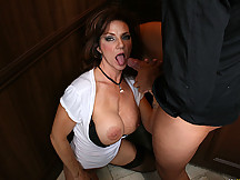 Busty business milf is hot for sex