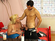 A trip inside her granny pussy gives him a tremendous amount of sexual pleasure