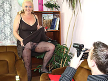 The woman is his wife's mother and she has an insatiable desire for hard dick meat