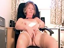 Fingering old slut