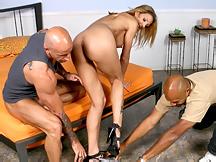 Leggy Cougar Bounces On Dick