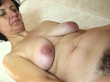 The dazzling mature chick is eager for his young meat to penetrate her ancient hole deeply